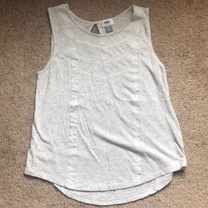Old Navy gray embroidered tank top